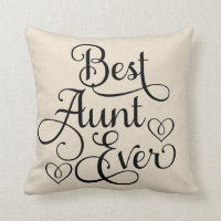 Best Aunt Ever Throw Pillow