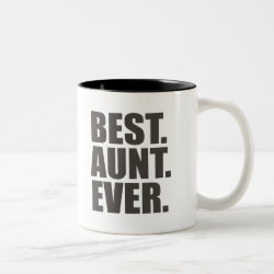 Two-Tone Mug with Best. Aunt. Ever. design
