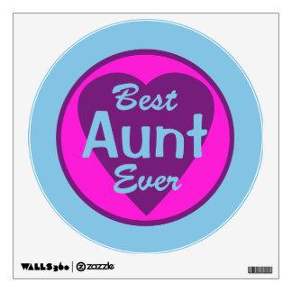 Best Aunt Ever Wall Sticker