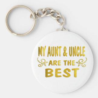 Best Aunt & Uncle Basic Round Button Keychain