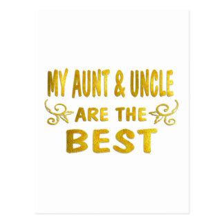 Best Aunt Uncle Postcards
