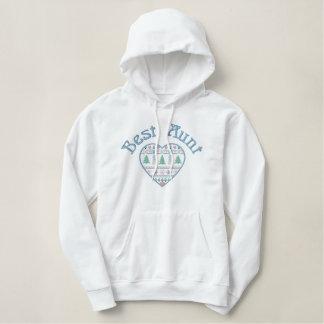Best Aunt Winter Love Heart Pullover Hoodie Gift