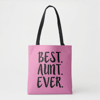 Best Auntie Ever funny tote bag