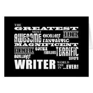 Best Authors and Writers : Greatest Writer Card