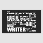 Best Authors and Writers : Greatest Writer Rectangle Sticker
