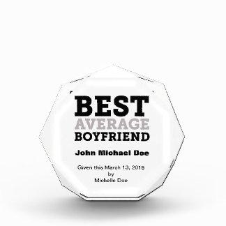 Best Average Boyfriend Acrylic Award