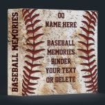 """Best Baseball Senior Night Gifts Baseball Binder<br><div class=""""desc"""">Old baseball look Personalized Baseball Senior Night Gifts Baseball Binder for the years of baseball memories from the past and future. Type in Each Player&#39;s Jersey NUMBER and NAME and YOUR Team Name or Your Text or Delete any of all of the text. Baseball Stitches up close. 2 text boxes,...</div>"""