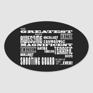 Best Basketball Players : Greatest Shooting Guard Oval Sticker