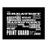 Best Basketball Point Guards  Greatest Point Guard Postcard