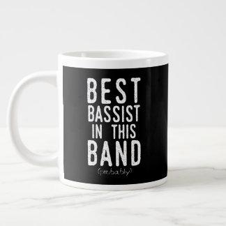 Best Bassist (probably) (wht) Large Coffee Mug