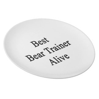 Best Bear Trainer Alive Party Plates