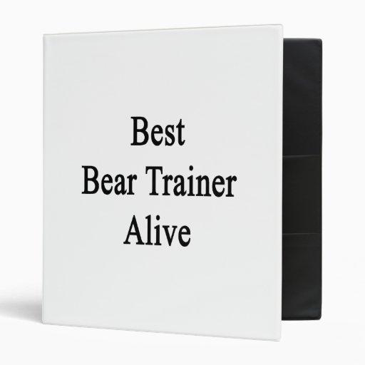 Best Bear Trainer Alive Vinyl Binders
