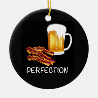 Best Beer and Bacon gifts and accessories ever! Round Ceramic Decoration