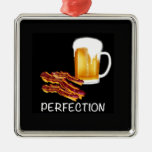 Best Beer and Bacon gifts and accessories ever! Square Metal Christmas Ornament