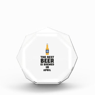 Best Beer is brewed in April Z86r8 Acrylic Award