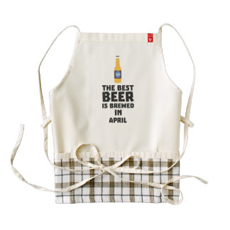 Best Beer is brewed in April Z86r8 Zazzle HEART Apron