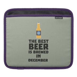 Best Beer is brewed in December Zfq4u Sleeve For iPads