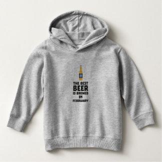 Best Beer is brewed in February Z4i8g Hoodie