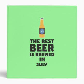 Best Beer is brewed in July Z4kf3 3 Ring Binder
