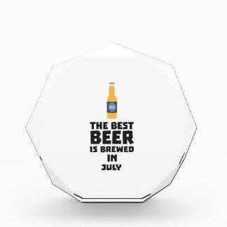 Best Beer is brewed in July Z4kf3 Acrylic Award