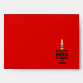 Best Beer is brewed in March Zp9fl Envelope