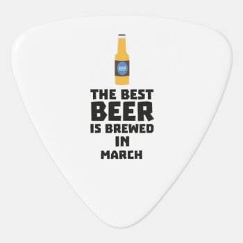 Best Beer Is Brewed In March Zp9fl Guitar Pick by i_love_cotton at Zazzle