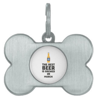 Best Beer is brewed in March Zp9fl Pet Name Tag