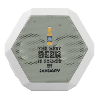 Best Beer is brewed in May Z96o7 White Bluetooth Speaker
