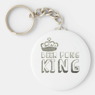 Best Beer Pong King Keychain