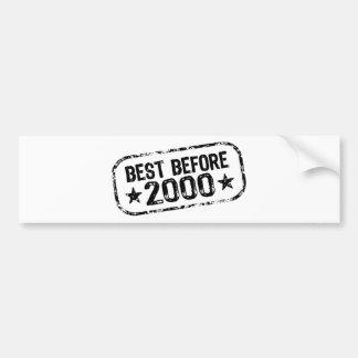 Best Before 2000 Bumper Sticker
