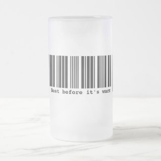 Best Before Frosted Glass Mugs