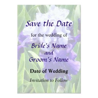 Best Bet Iris Save the Date 5x7 Paper Invitation Card