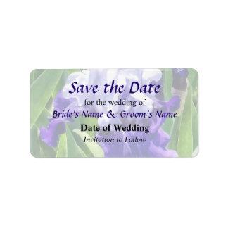 Best Bet Iris Save the Date Address Label