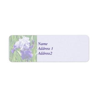 Best Bet Iris Save the Date Return Address Label