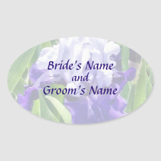 Best Bet Iris Save the Date Oval Sticker