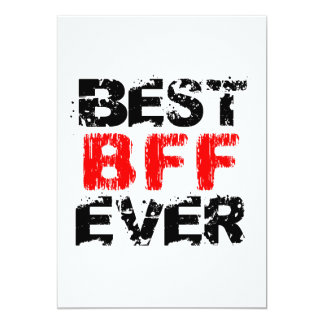 Best BFF Ever Grunge Style Red and Black Z803 Card