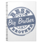 Best Big Brother - rubber stamp effect - Spiral Note Book