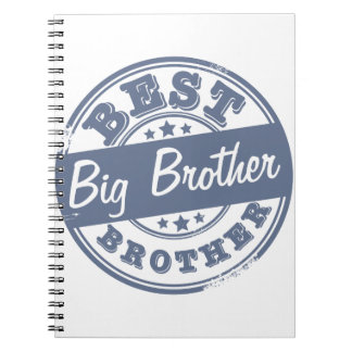 Best Big Brother - rubber stamp effect - Notebook