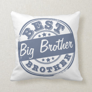 Best Big Brother - rubber stamp effect - Throw Pillow