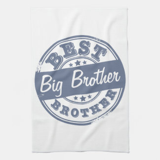 Best Big Brother - rubber stamp - Towels