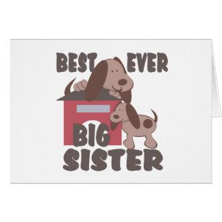 Best Big Sister Ever Doghouse Card