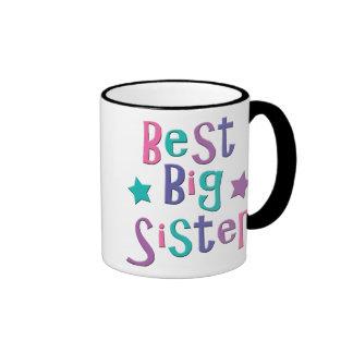 Best Big Sister Ringer Coffee Mug