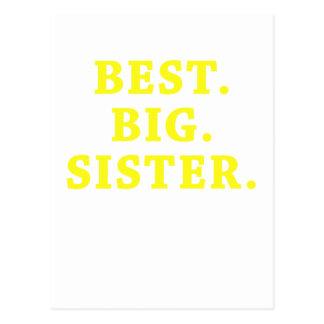 Best Big Sister Postcard