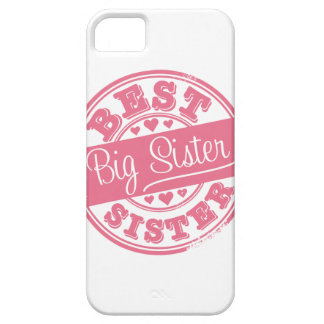 Best Big Sister -rubber stamp effect- iPhone SE/5/5s Case