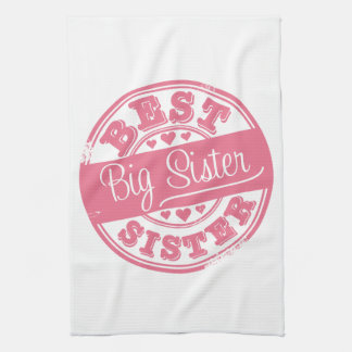 Best Big Sister -rubber stamp- Kitchen Towels