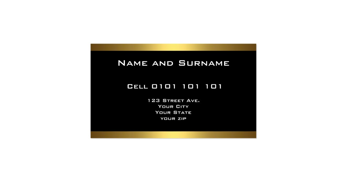 Best Black and Gold Business Cards