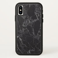 best black marble iPhone x case