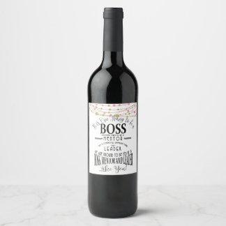 Best Boss Appreciation Gift Wine label