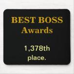 Best Boss Awards Practical Joke Rude Funny Insult Mouse Pad