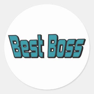 Best Boss Classic Round Sticker